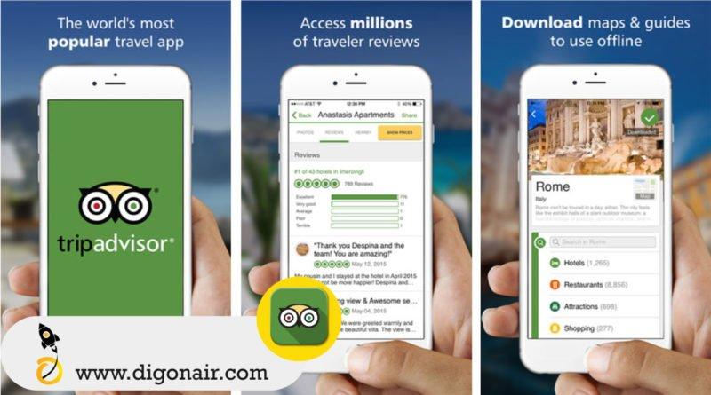 TripAdvisor - Travel and tourism mobile Apps | DigOnAir