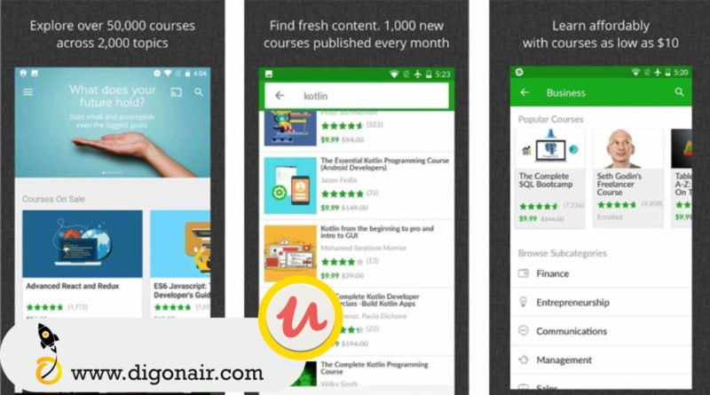 Udemy- Educational Mobile App