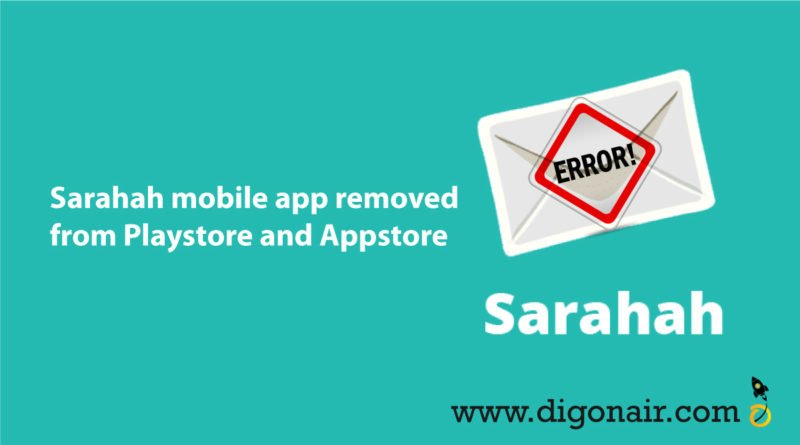 sarahah mobile app removed